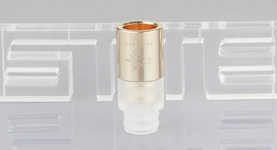 Image of 2-in-1 Gold Plated Stainless Steel + Plastic Hybrid 510 Drip Tip