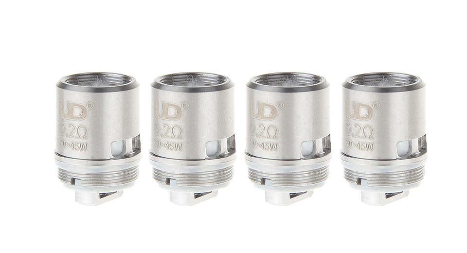 Image of Authentic UD Replacement Coil Head for Zephyrus BDC Clearomizer (4-Pack)