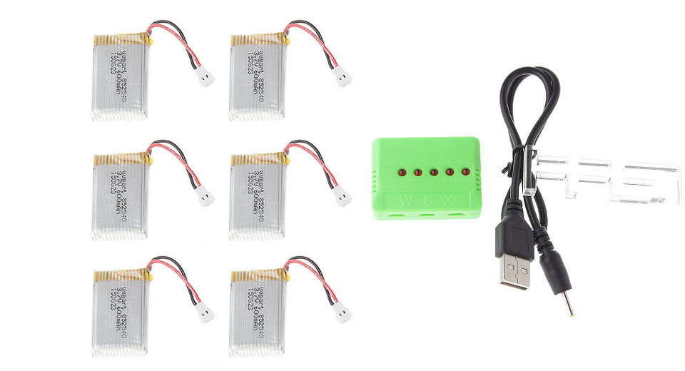 Image of 3.7V 600mAh Rechargeble Li-Polymer Battery for SYMA X5 / X5A / X5C R/C Quadcopter (6-Pack)