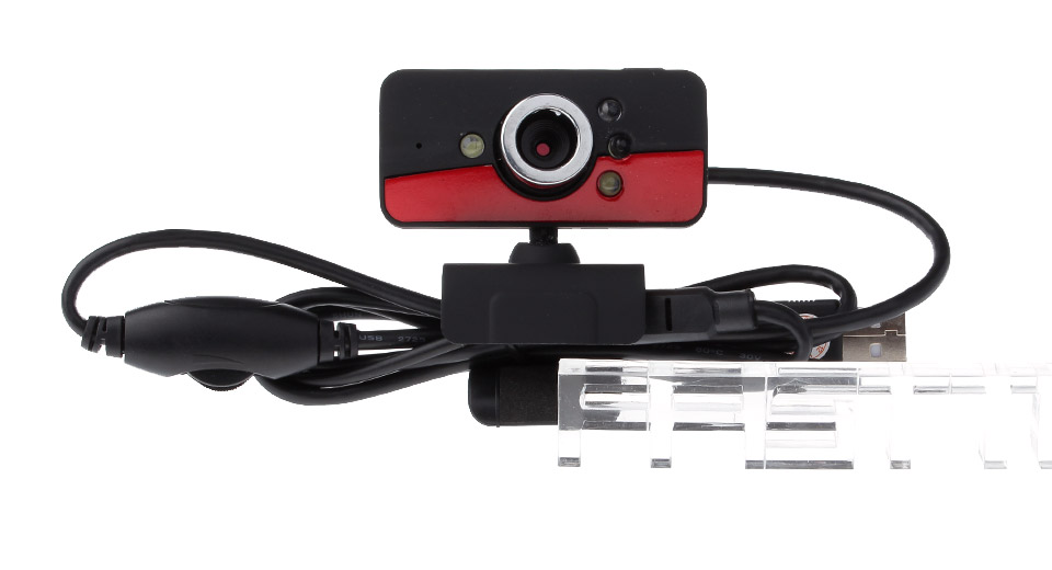 Clip-on 10MP CMOS Night Vision Webcam w/ Built-in Microphone