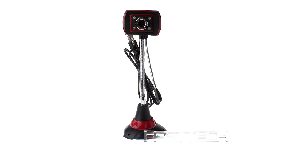 Suction Cup 10MP CMOS Night Vision Webcam w/ Built-in Microphone