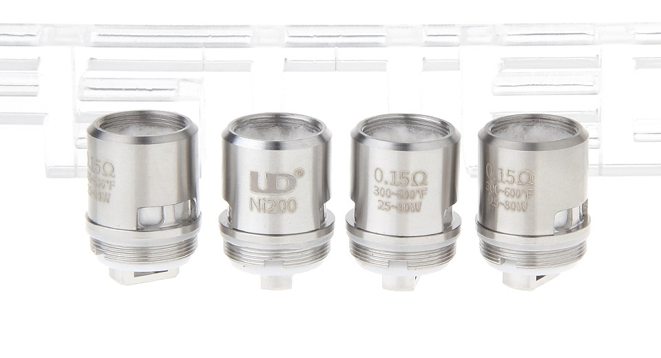 Image of Authentic UD Replacement TC Temperature Control Coil Head for Zephyrus OCC Clearomizer (4-Pack)