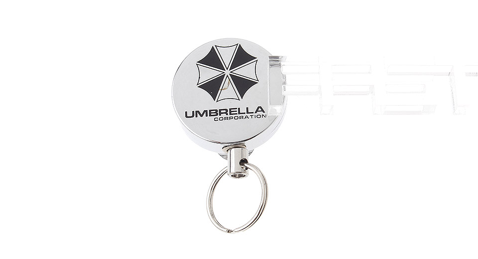 Outdoor Retracted Stainless Steel Wire Keychain