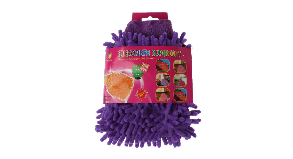 Chenille Microfiber Double Side Car Washing Glove / Cleaning Cloth