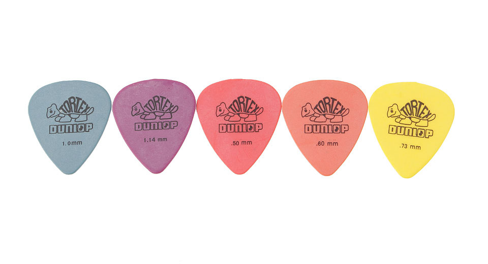 Image of 0.5/0.6/0.73/1.0/1.14mm Electric Guitar Picks (5 Pieces)