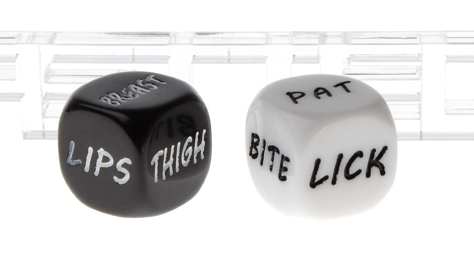 2.0cm Literal Gaming Flirting Sexy Dice (2 Pieces)