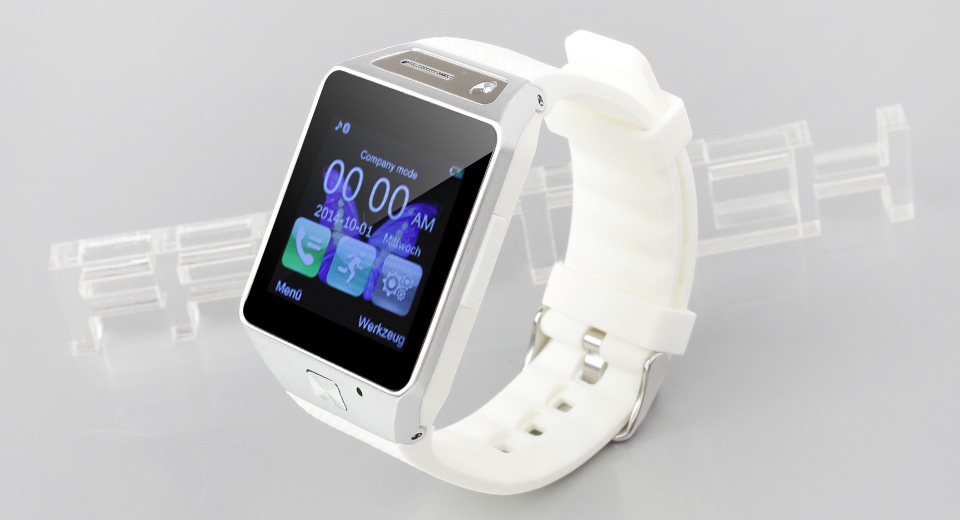 GV08S 1.54 IPS Touch Screen GSM Smart Watch Phone w/ Camera