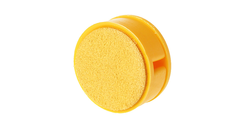 2-in1 Screen Cleaner + Earphone Cable Winder Organizer Yellow