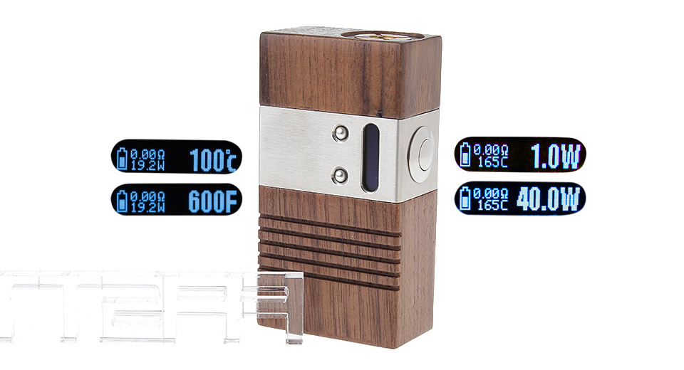 Image of Mellody Box Styled 40W TC Temperature Control VW Variable Wattage APV Mod