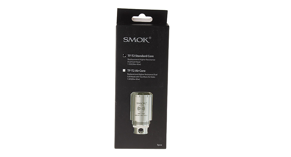 Authentic SmokTech TFV4 Replacement TF-T2 Coil Head (5-Pack) TF-T2, standard, 1.5ohm, 5-Pack