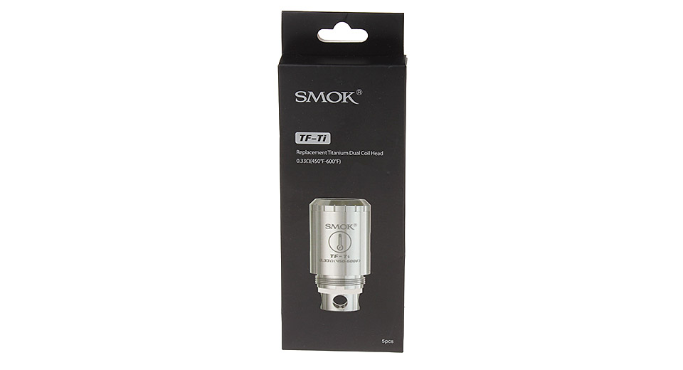 Image of Authentic SmokTech TFV4 Replacement TF-TI Coil Head (5-Pack)
