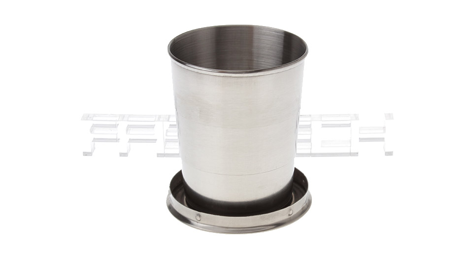 Portable 3-Fold Stainless Steel Retractable Cup with Keychain (50ml)