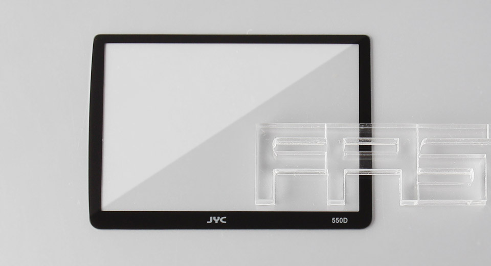 Authentic JYC Tempered Glass LCD Screen Protector for Canon 550D
