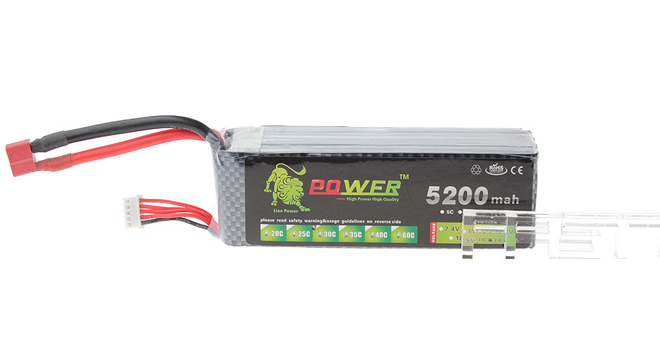 Lion Power BT708 14.8V 5200mAh 30C Rechargeable Li-Polymer Battery for R/C Models