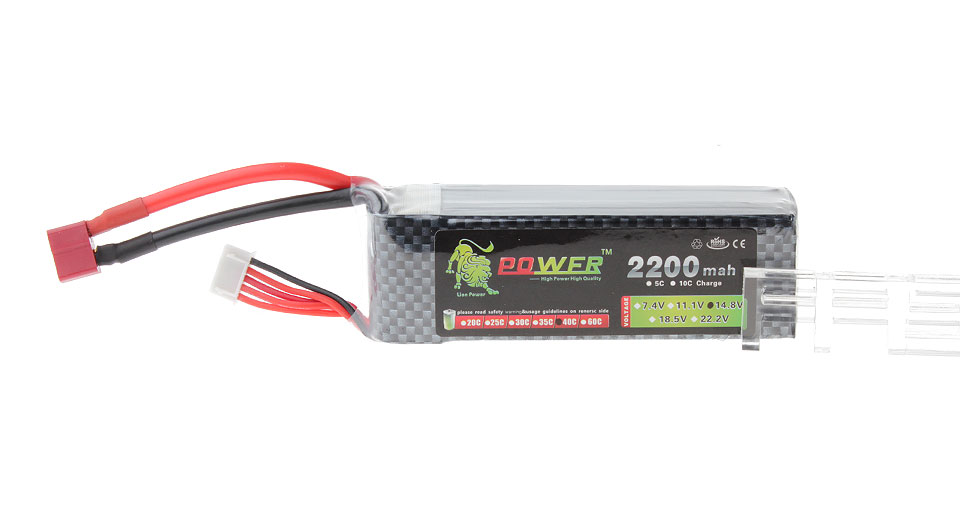 Lion Power BT691 14.8V 2200mAh 40C Rechargeable Li-Polymer Battery for R/C Models
