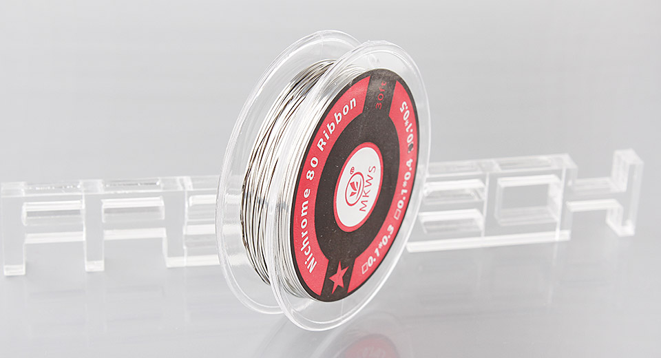 Image of Authentic MKWS Nichrome 80 Ribbon Heating Wire for Rebuildable Atomizers