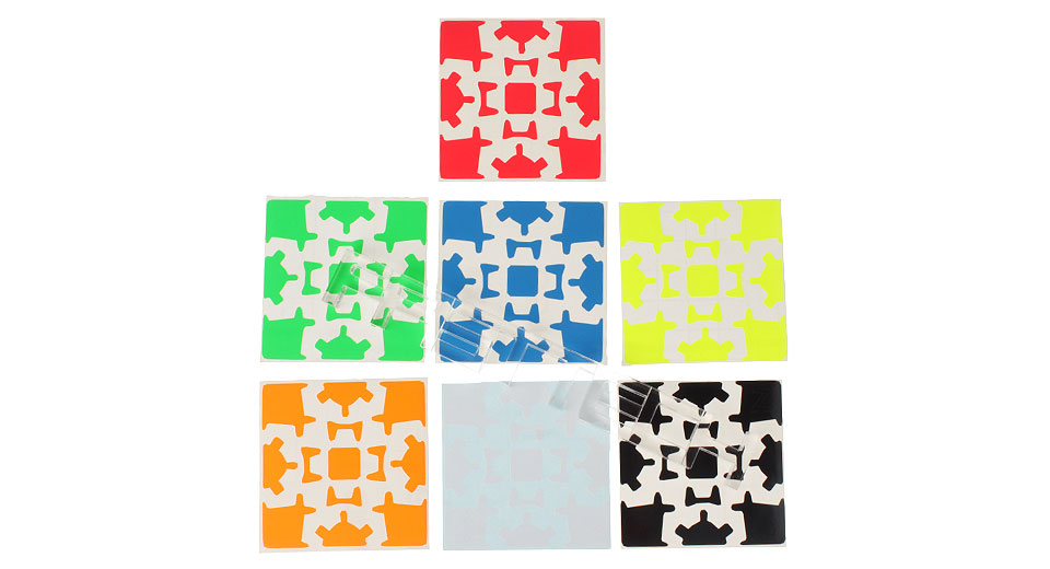 ZSGC88 Z-Stickers for 3x3x3 Gear Puzzle Speed Cubes (7 Pieces)
