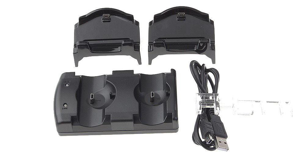Image of 3-in-1 Dual Slot Charging Docking Station for PS4 / PS3 / PS3 Move Game Controllers