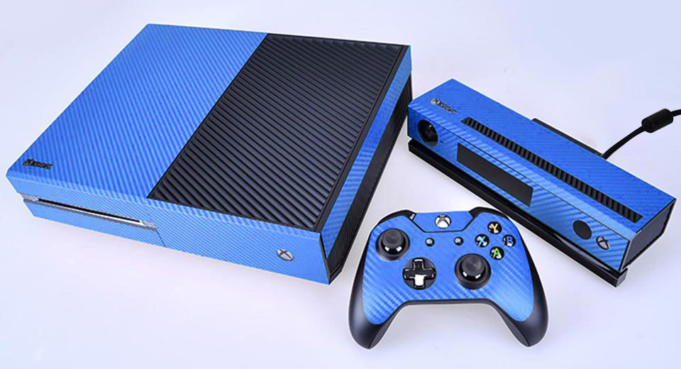 CITYWOLF Carbon Fiber Decorative Sticker Skin Set Xbox One Blue,