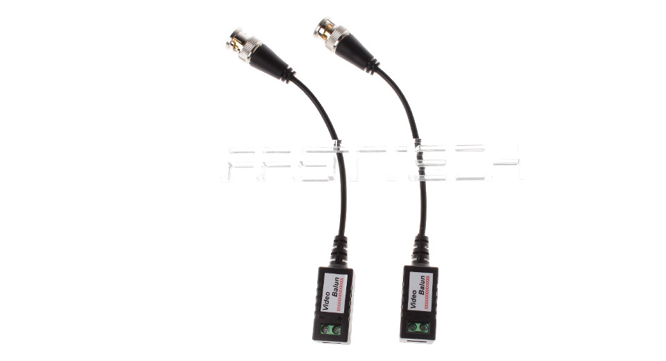 Single Channel Twisted-Pair Video Balun Transceiver (2-Pack)