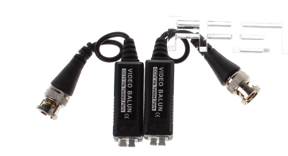 Image of CCTV Twisted-Pair Passive Video Balun Transceiver (2-Pack)