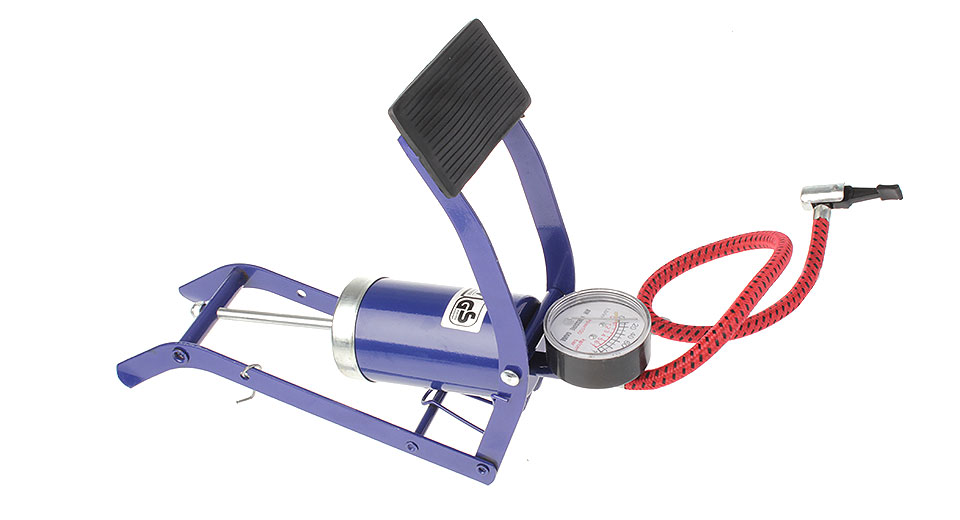 Portable Car High Pressure Foot Pump w/ Tire Gauge