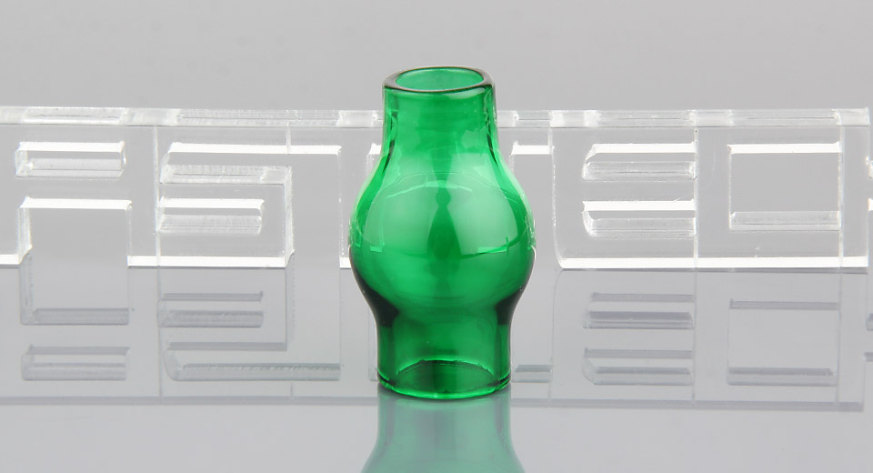 Replacement Glass Tank Sleeve for E-Solid / Wax Glass Vaporizer, Bulb Shaped, Deep Green