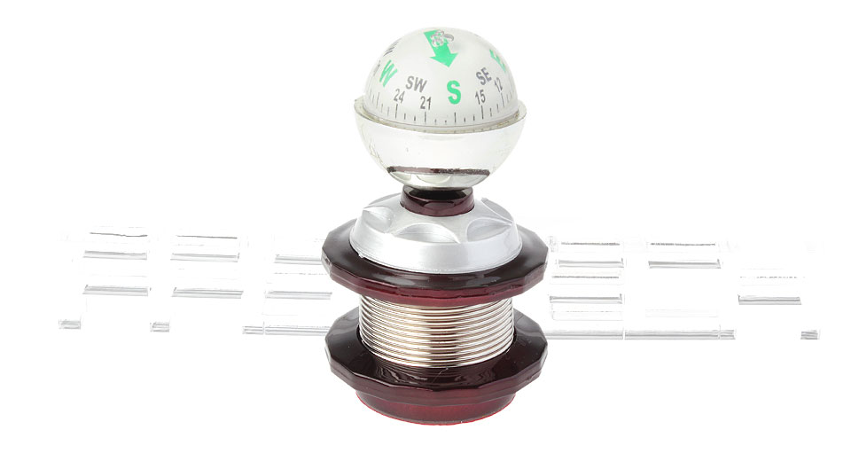 Image of 2-in-1 Portable Sphere Shaped Car Compass + Ticket Clip
