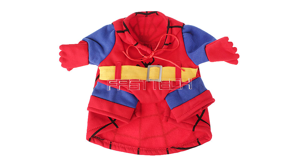 Pet Dog Spiderman Styled Halloween Costume (Size M)