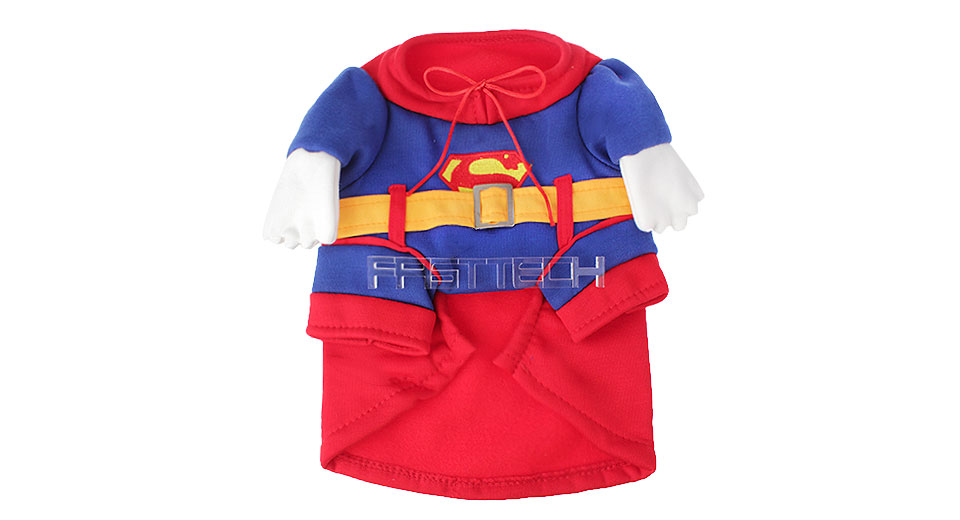Pet Dog Superman Styled Halloween Costume (Size L) Style, Size L