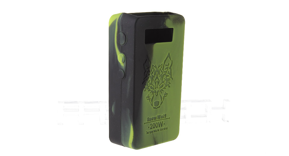 Protective Silicone Sleeve Case for Snow Wolf 200W TC VW APV Mod 200W TC/VW Mod, Black + Green