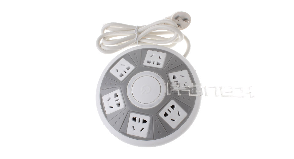 Authentic XINGNIU UFO Shaped AC Socket-Outlets w/ 2-Port USB Charger