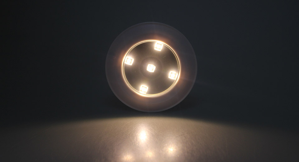 CL-017 0.3W 5*3528 30LM 3500K Warm White LED Lamp 0.3W, 5*3528, 30LM,