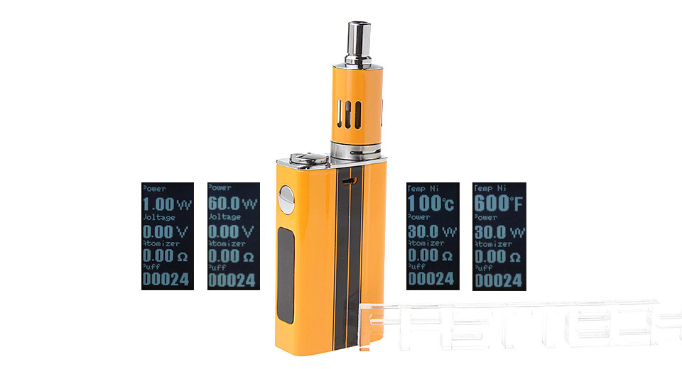 eVic VT Styled 60W 5000mAh TC VW Mod w/ eGo One Mega Clearomizer Kit