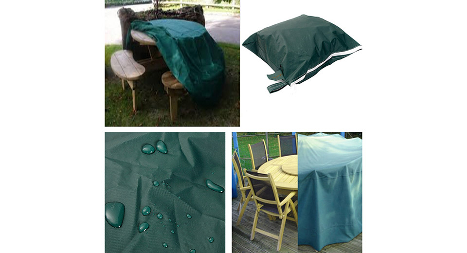 Outdoor Garden Furniture PEVA Sun Shade Cover (Size S) Green, Size S