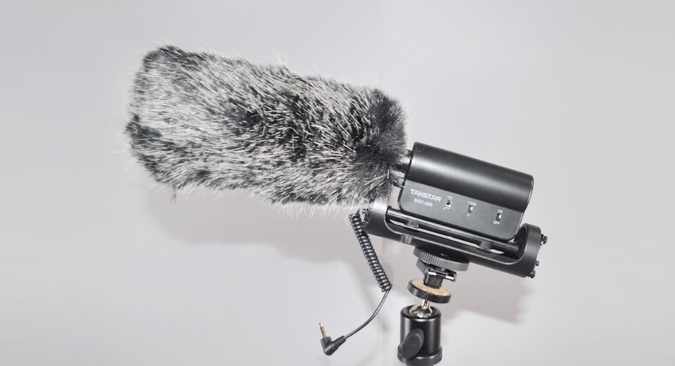 Rabbit Fur Windproof Camera Microphone Cover (Size M)