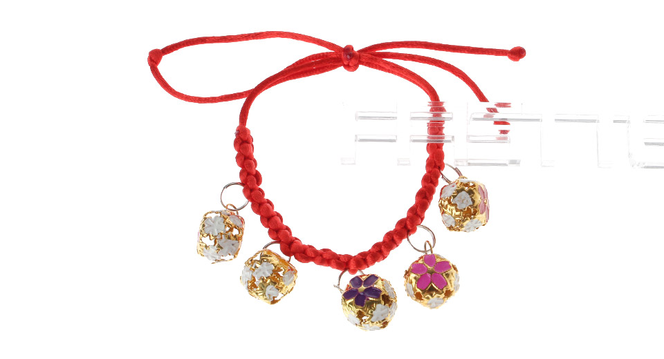 Hand Knitting Cloisonn Necklace Bell Pet Red,