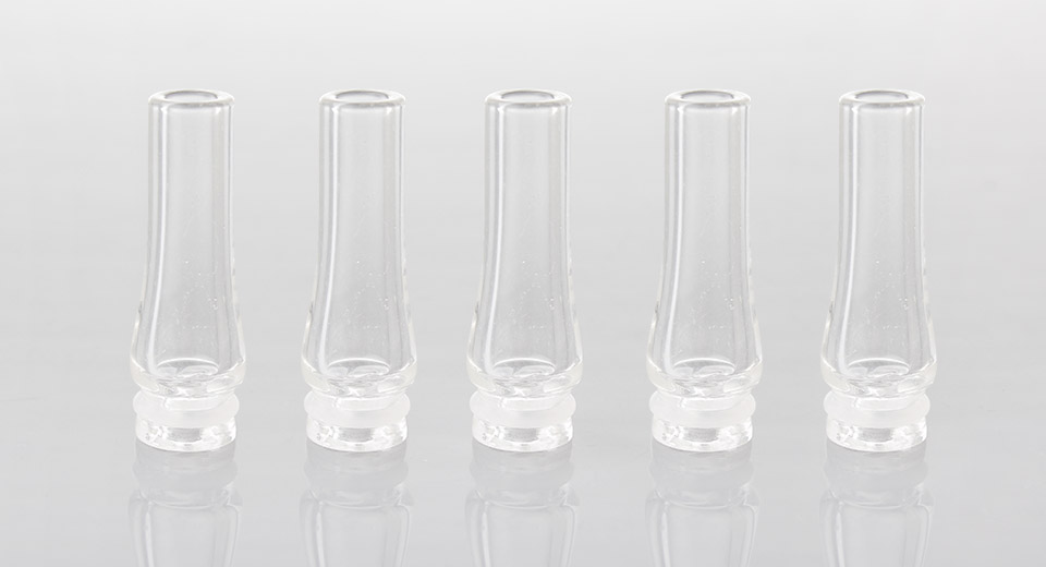 Pyrex Glass 510 Drip Tip (5-Pack)