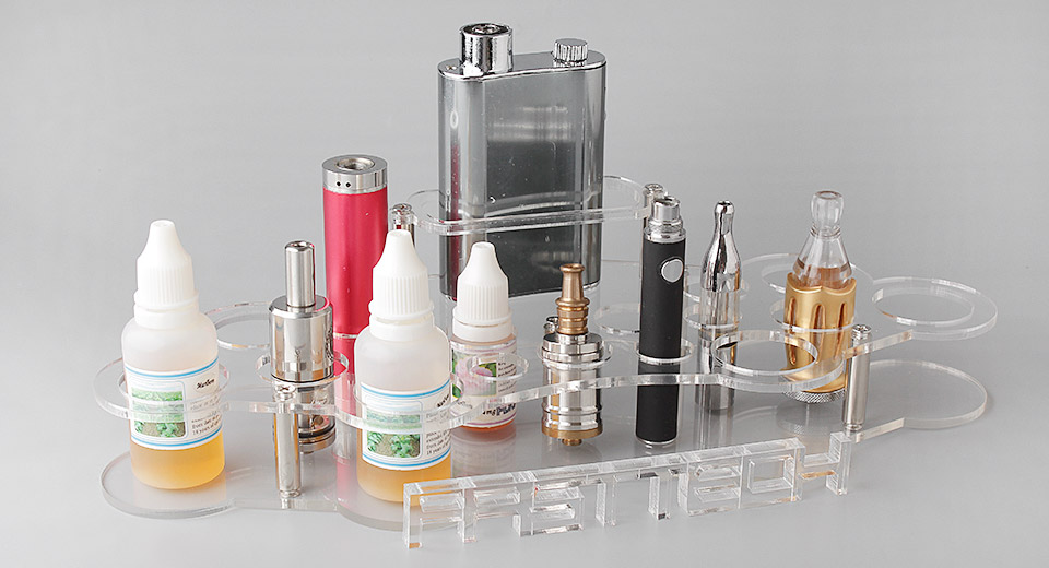 Acrylic 3-Layer 20-Hole Display Stand for E-Cigarettes (DIY)