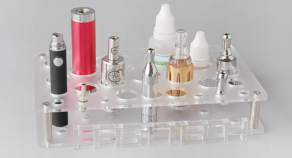 Acrylic 2-Layer 26-Hole Display Stand for E-Cigarettes (DIY)