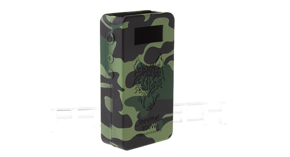 Protective Silicone Sleeve Case for Snow Wolf 200W TC VW APV Mod 200W TC/VW Mod, Black Camo