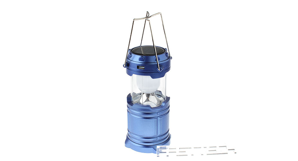 Image of 5W 6*LED Solar / Battery Powered Rechargeable LED Camping Lantern
