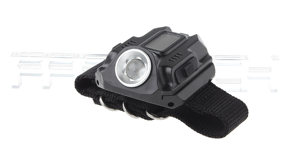 """Image of 0.8"""" LCD Watch Styled USB Rechargeable LED Flashlight"""