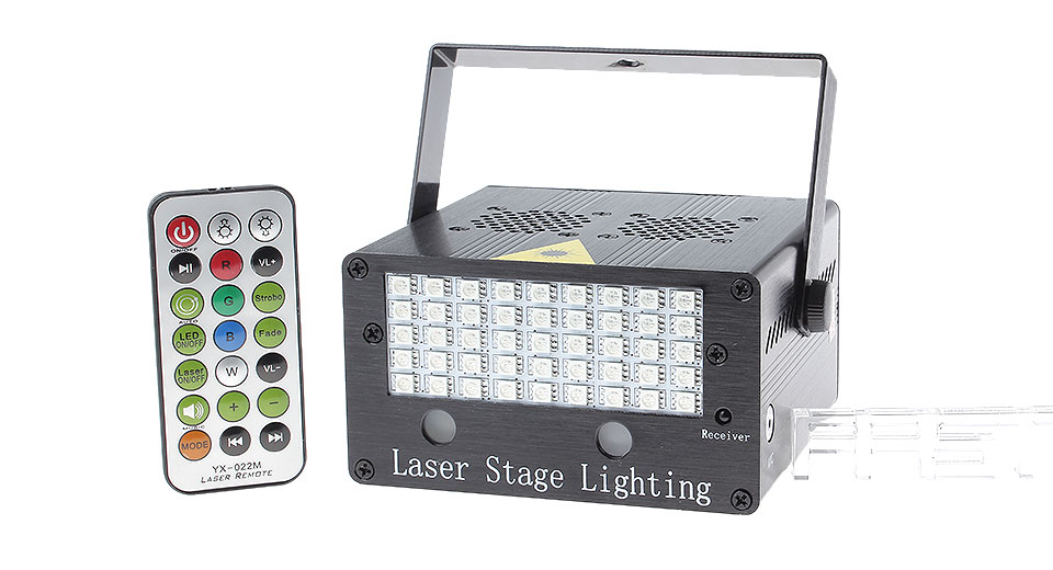 100mW Green + 200mW Red Laser Stage Lighting Projector