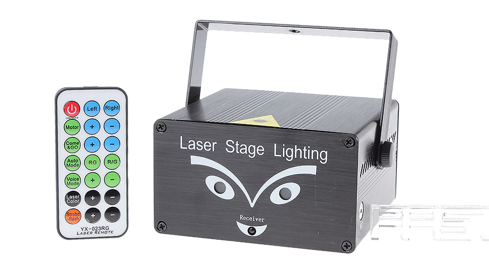 50mW Green + 100mW Red Laser Stage Lighting Projector