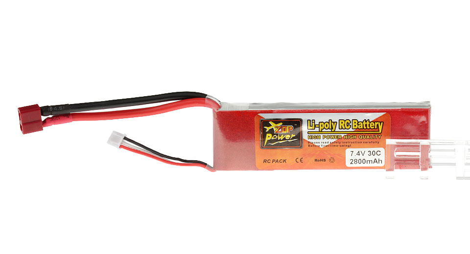 Authentic ZOP Power 7.4V 2800mAh 30C Li-Polymer Battery