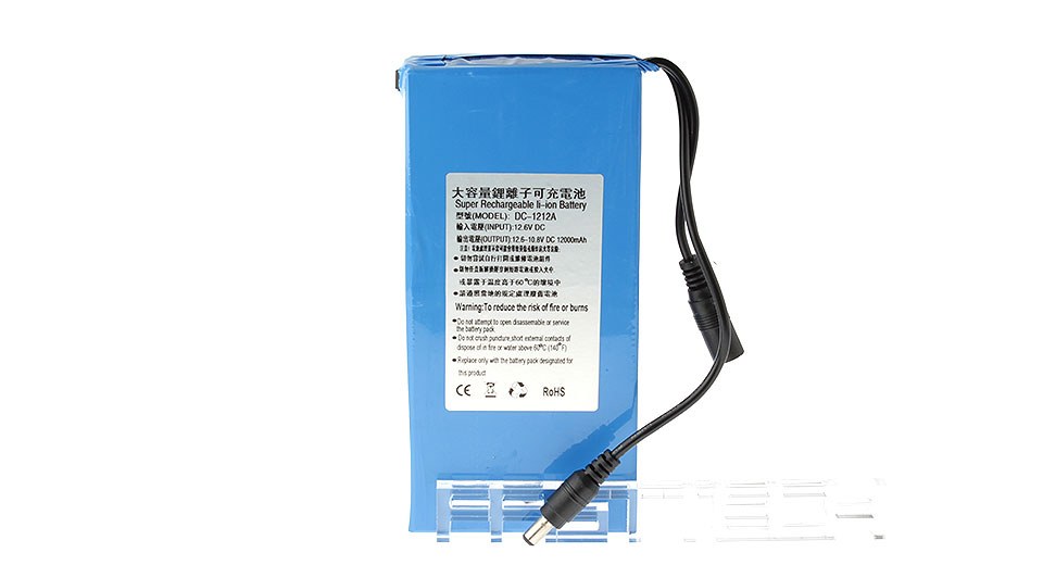 Image of 12V 12000mAh Rechargeable Li-Polymer Battery