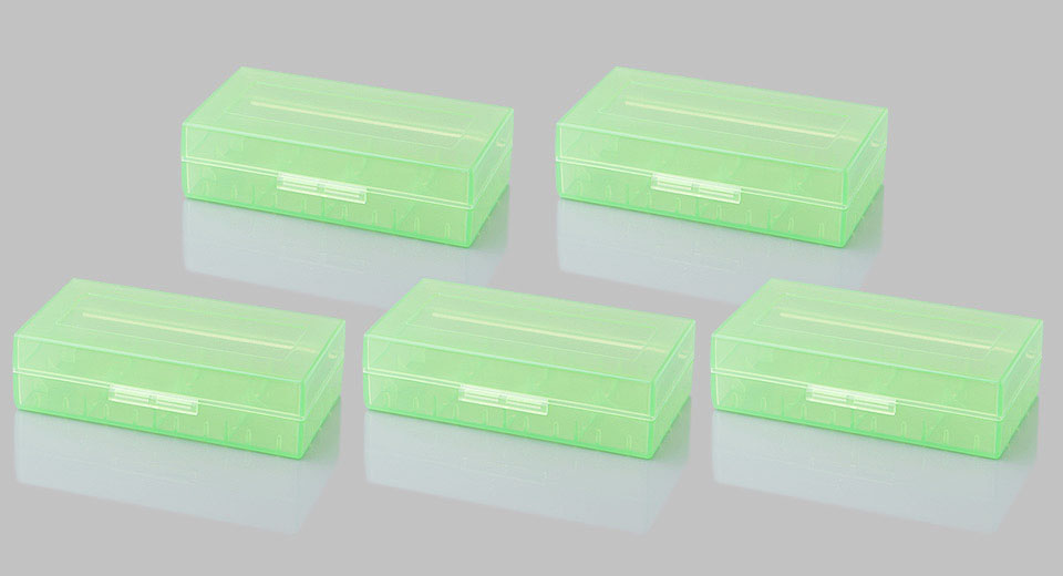 18650 / 16340 / 17500 / CR123A Battery Protective Storage Case (5-Pack)