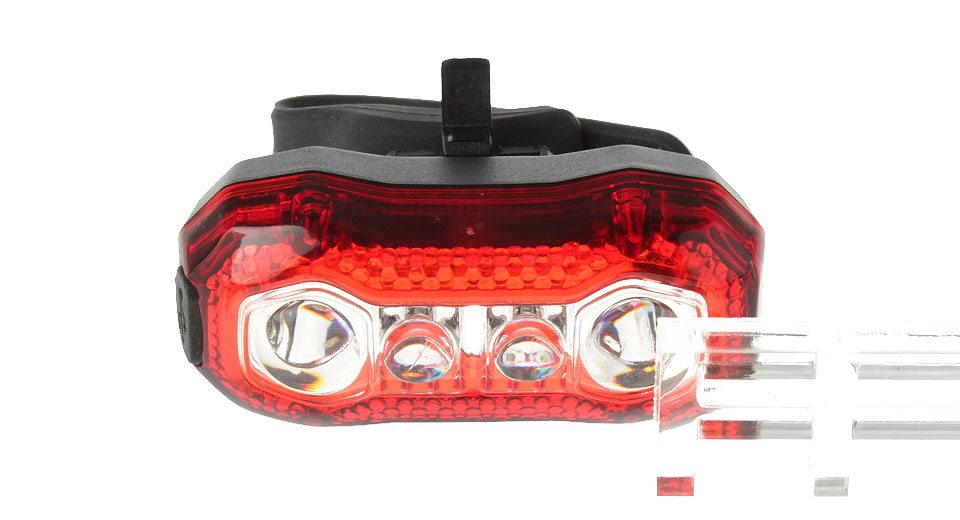 4*LED 5-Mode 26LM 620nm LED Bicycle Tail Light