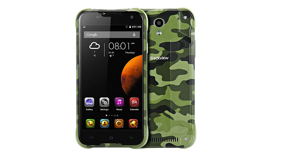 "Blackview BV5000 5"" IPS Quad-Core Android 5.1 Lollipop LTE Smartphone (16GB)"